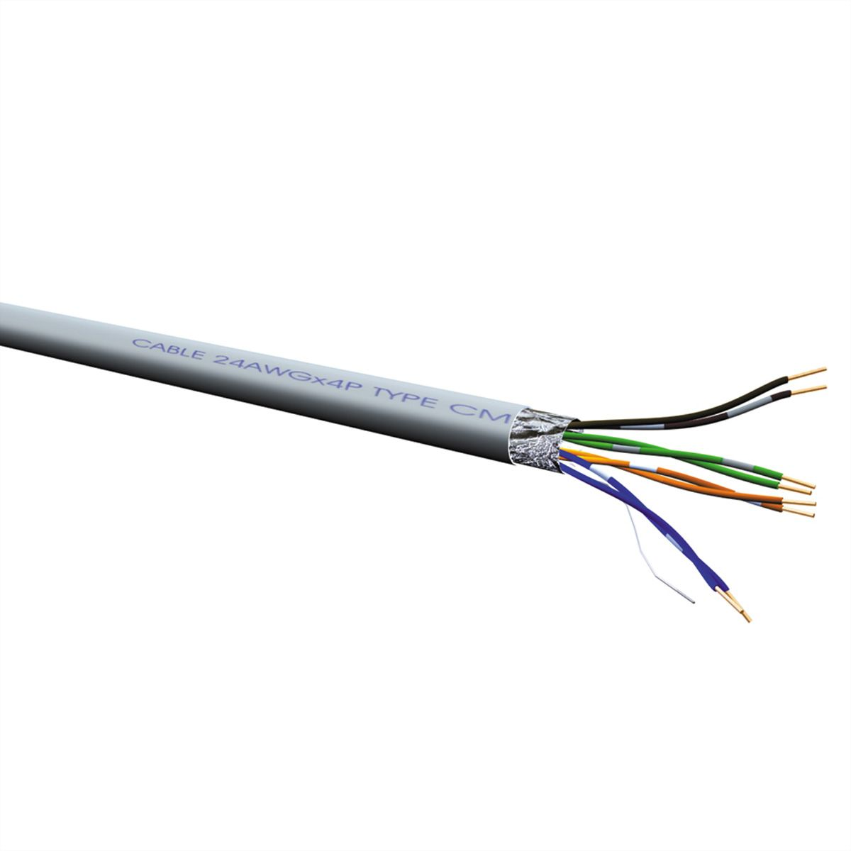 Roline Ftp Cable Cat5e Stranded Wire 100 M Secomp International Panel Wiring Diagram On Cat 5e Shielded Ether