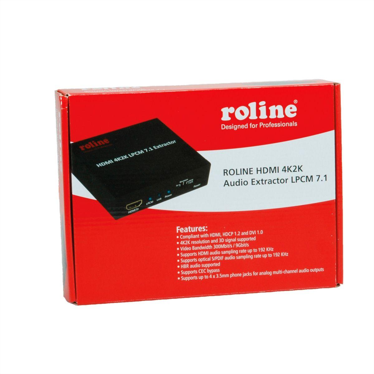 ROLINE HDMI 4K Audio Extractor LPCM 7 1 - SECOMP International