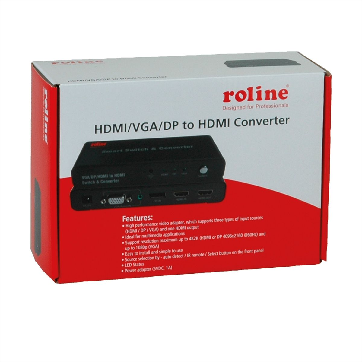 ROLINE HDMI/VGA/DP to HDMI Converter - SECOMP International