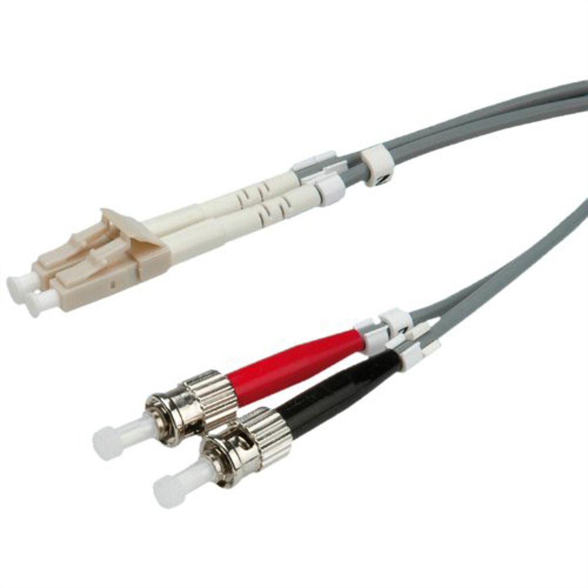 ROLINE Fibre Optic Jumper Cable 50/125µm LC/ST, OM2, grey